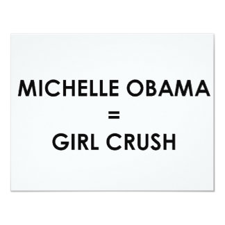 "Michelle Obama Invitación 4.25"" X 5.5"""
