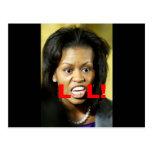 Michelle Obama LOL Post Card