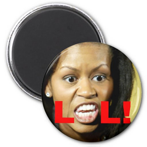 Michelle Obama LOL Refrigerator Magnets
