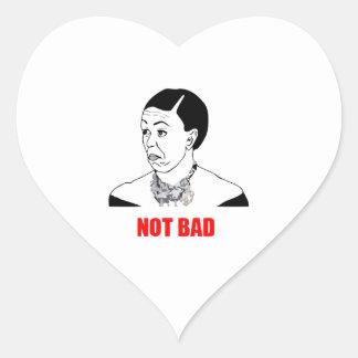 Michelle Obama Meme no malo Pegatina En Forma De Corazón
