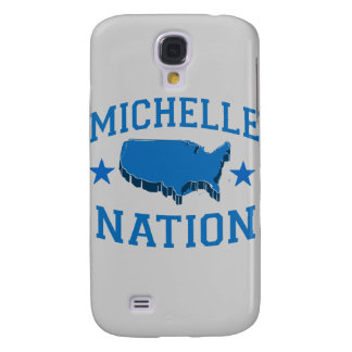 MICHELLE OBAMA NATION png Samsung Galaxy S4 Case