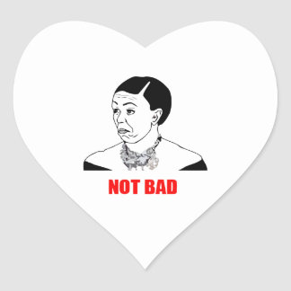 Michelle Obama Not Bad Meme Heart Sticker