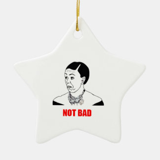 Michelle Obama Not Bad Meme Christmas Ornaments