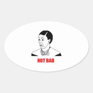 Michelle Obama Not Bad Meme Oval Sticker