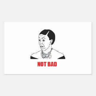 Michelle Obama Not Bad Meme Rectangular Sticker