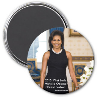 Michelle Obama Official Portrait 2010 Round Magnet