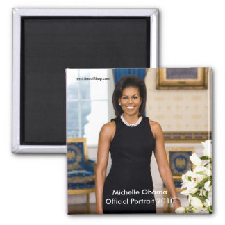 Michelle Obama Official Portrait Square Magnet