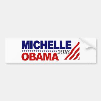 Michelle Obama para el presidente 2016 Pegatina Para Auto
