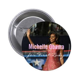 Michelle Obama para primera señora Button Pin Redondo 5 Cm