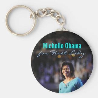 Michelle Obama para primera señora Keychain Llaveros Personalizados