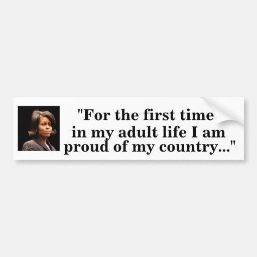 Michelle Obama Pegatina De Parachoque