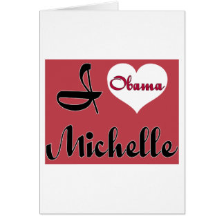 michelle obama pnk greeting card