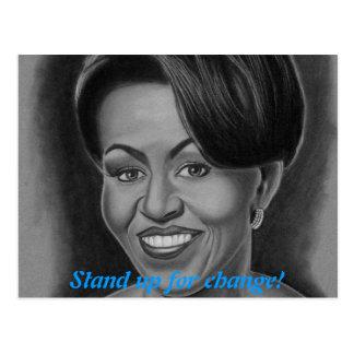 Michelle Obama Post Card