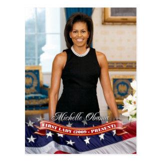 Michelle Obama, primera señora de los E.E.U.U. Postales