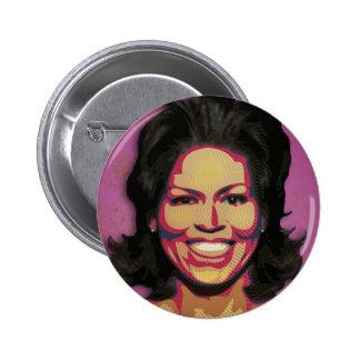 Michelle Obama - primera señora - púrpura Pins