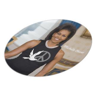 Michelle Obama, primero carga de paz Platos Para Fiestas