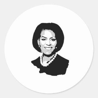 Michelle Obama Round Sticker