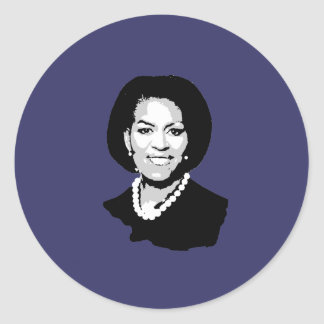 Michelle Obama Round Stickers