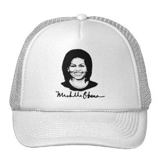 MICHELLE OBAMA SIGNATURE -.png Hats