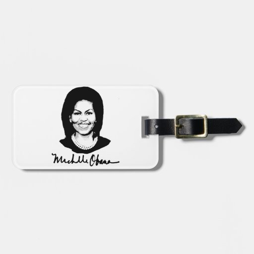 MICHELLE OBAMA SIGNATURE -.png Luggage Tag