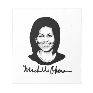 MICHELLE OBAMA SIGNATURE.png Memo Notepads