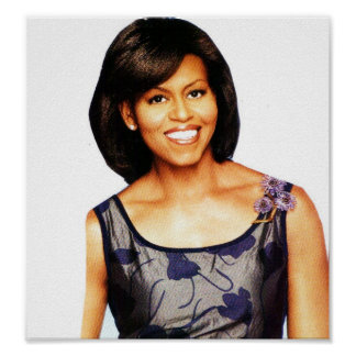 MICHELLE OBAMA SMILING poster