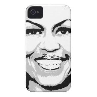MICHELLE OBAMA STAMP INK ART iPhone 4 COVER