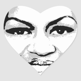 MICHELLE OBAMA STAMP INK ART HEART STICKER