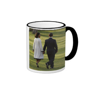 MICHELLE OBAMA TRIP TO EUROPE - DEPARTURE RINGER COFFEE MUG