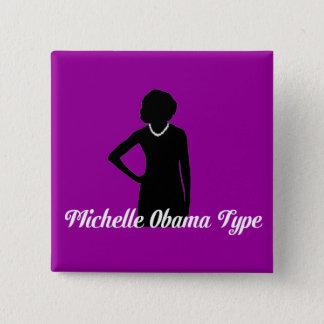 Michelle Obama Type button, Amethyst Purple Pinback Button