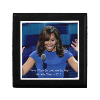 "Michelle Obama ""We Go High"" Collectible Jewelry Box"