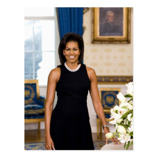"Michelle Obama ""Your Text Here"" Postcard"