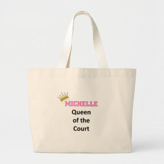 Michelle queen of the court tote bag