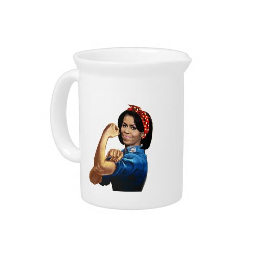 MICHELLE THE RIVETER BEVERAGE PITCHER