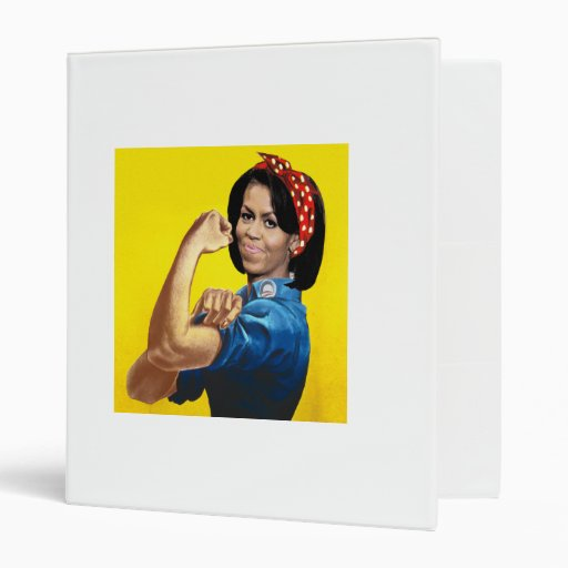 MICHELLE THE RIVETER.png 3 Ring Binders