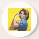 MICHELLE THE RIVETER -.png Beverage Coaster