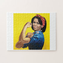 MICHELLE THE RIVETER -.png Jigsaw Puzzle
