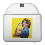 MICHELLE THE RIVETER -.png Sleeve For MacBooks