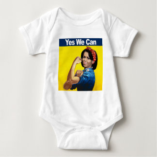Michelle the Riveter - Yes we can.png Baby Bodysuit