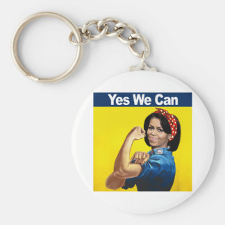 MICHELLE THE RIVETER - YES WE CAN png Key Chains
