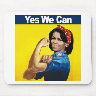 Michelle the Riveter - Yes we can png Mouse Pads