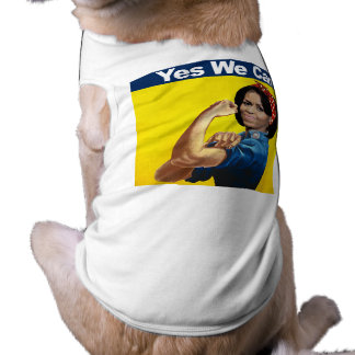 MICHELLE THE RIVETER - YES WE CAN.png Pet T-shirt