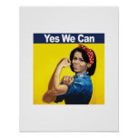 MICHELLE THE RIVETER - YES WE CAN -.png Print