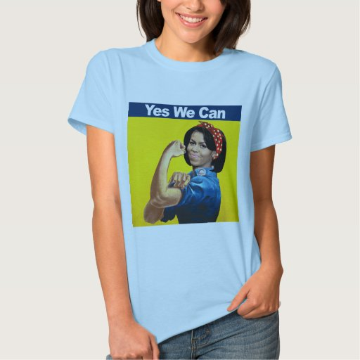 MICHELLE THE RIVETER - YES WE CAN.png Shirts
