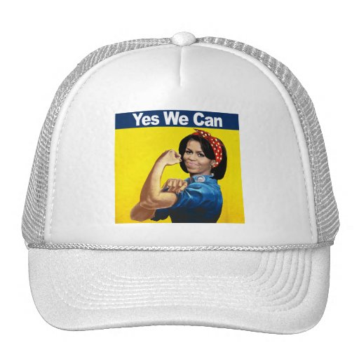 MICHELLE THE RIVETER - YES WE CAN.png Trucker Hat