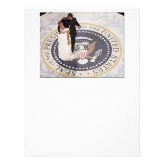 Michelle y Barack Obama Membrete
