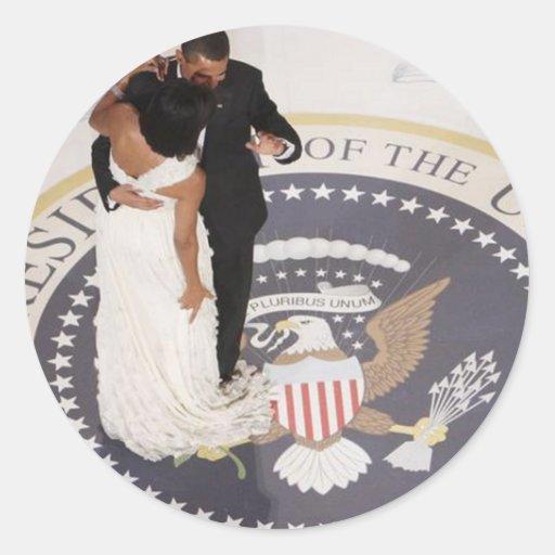 Michelle y Barack Obama Pegatina Redonda