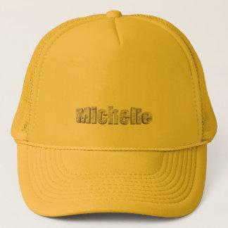 Michelle's yellow mesh hat