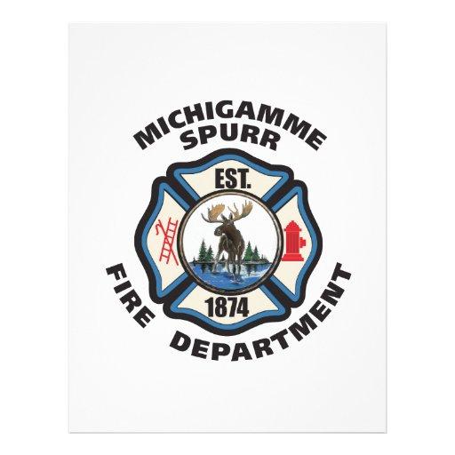 michigamme spurr fire departmentlogo items letterhead
