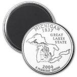 Michigan 2 Inch Round Magnet